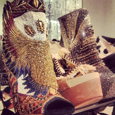 Amazing Balmain shoes from The Room at HBC in downtown Toronto