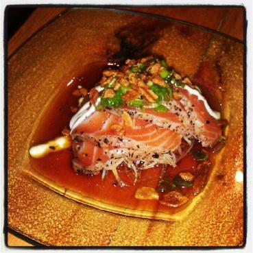 Salmon tataki at Guu
