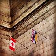 Flags in Union Station
