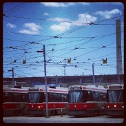 The home of the streetcars along Queen Street East