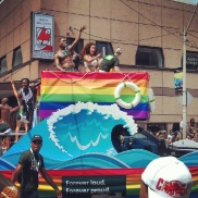Looks like TD Bank's float at the Pride Parade on July 1 in Toronto