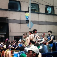 Drummers in the Pride Parade