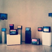 Ian Baxter&'s TV display at the AGO