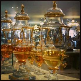 Perfume jars inside Fortnum and Mason