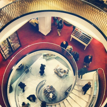 The central staircase in Fortnum and Mason
