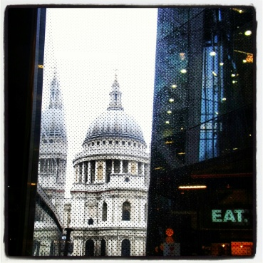 View of St. Paul's Cathedral from One New Change mall