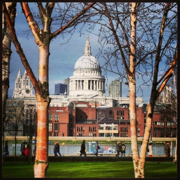 View of St. Paul's from the grounds of the Tate Modern