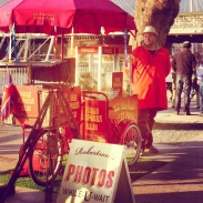 Instant photographs and popcorn nearby the London Eye