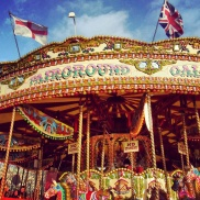 A carousel along the banks of the River Thames