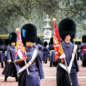 Changing of the guards at Buckingham Palace