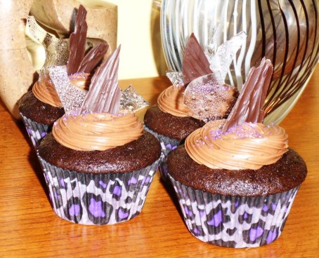 Chocolate Infused with Chocolate Cream Cheese Frosting topped with Chocolate Shards and Bubble Sugar