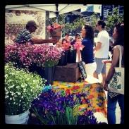 Flower stall at the farmer's market