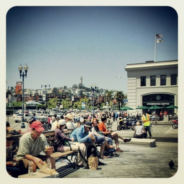 Lunch time at the Embarcadero
