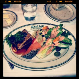 Lunch at Tadish - ahi tuna and smoked salmon!