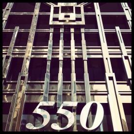 A gorgeous art deco building facade at 550 California Street