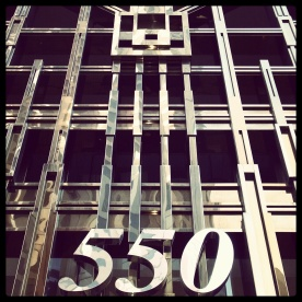 A gorgeous art deco building facade at 550 California Street