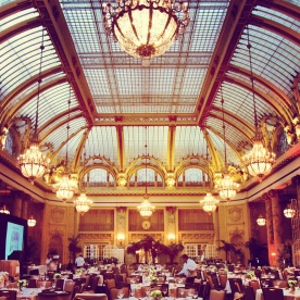 The beautiful Palace Hotel being set up for an event