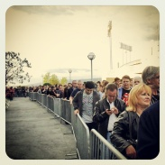 The lineup behind me to pick up $85 tickets for the Rolling Stones - I think they sold way more than 1000