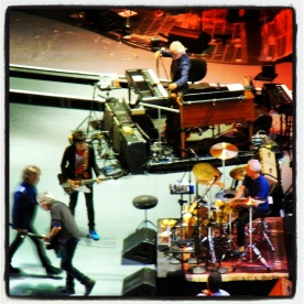 Kind of fuzzy, but Mick, Keith, Ronnie and Charlie are all there!