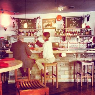 The bar at Bask SF