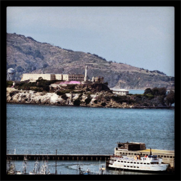A shot of Alcatraz as we walked down a steep street towards Hyde Street Pier