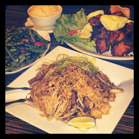 Some of my favourites - pad Thai, sambal bunchies and Tropika homestyle chicken - amazing food, plenty to go around!