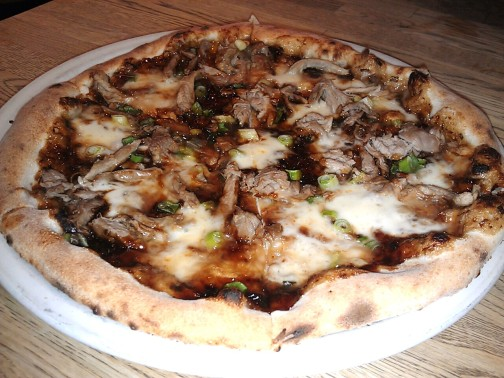 The Moo Shu BBQ Duck new world pizza
