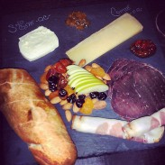 Cheese and charcuterie board #2 - goat and Comte cheeses with bresaola and prosciutto di parma