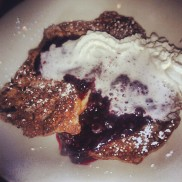 The French toast - not much to look at, but I'm told it was delicious!