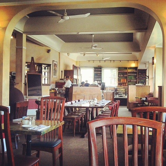 The interior of Upper Crust Cafe.