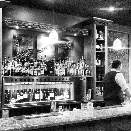 The bar at the 124th Street location of The Bothy.