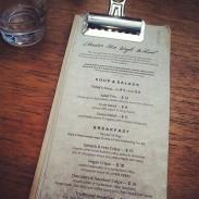 The regular brunch/lunch menu.