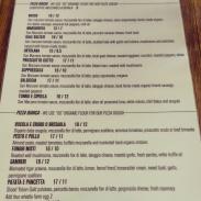 The pizza menu.