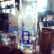 The complimentary filtered Q Water.