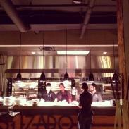 The open kitchen.