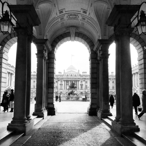 A beautiful shot of the entrance to Somerset House in London. Taken on a solo excursion to see the Valentino exhibit in 2013. I needed a break from my family who had accompanied me on the vacation.