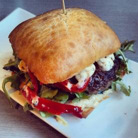 The Lamb Provencal Burger - 4 Napkins - please bring this one back!