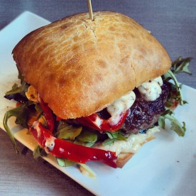The Lamb Provencal Burger - 4 Napkins - please bring this one back!