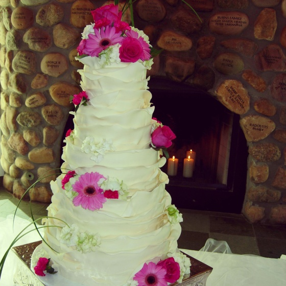 Alexis and Ryan's beautiful wedding cake!