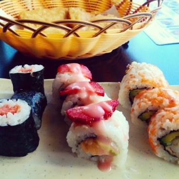 Soft Shell Crab, Fruity and Smoked Salmon maki at Zen.