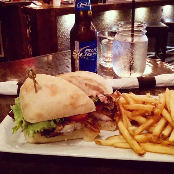 Rosemary Chicken Sandwich with Fries