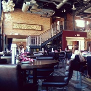 The rustic-vintage-modern vibe of the restaurant.