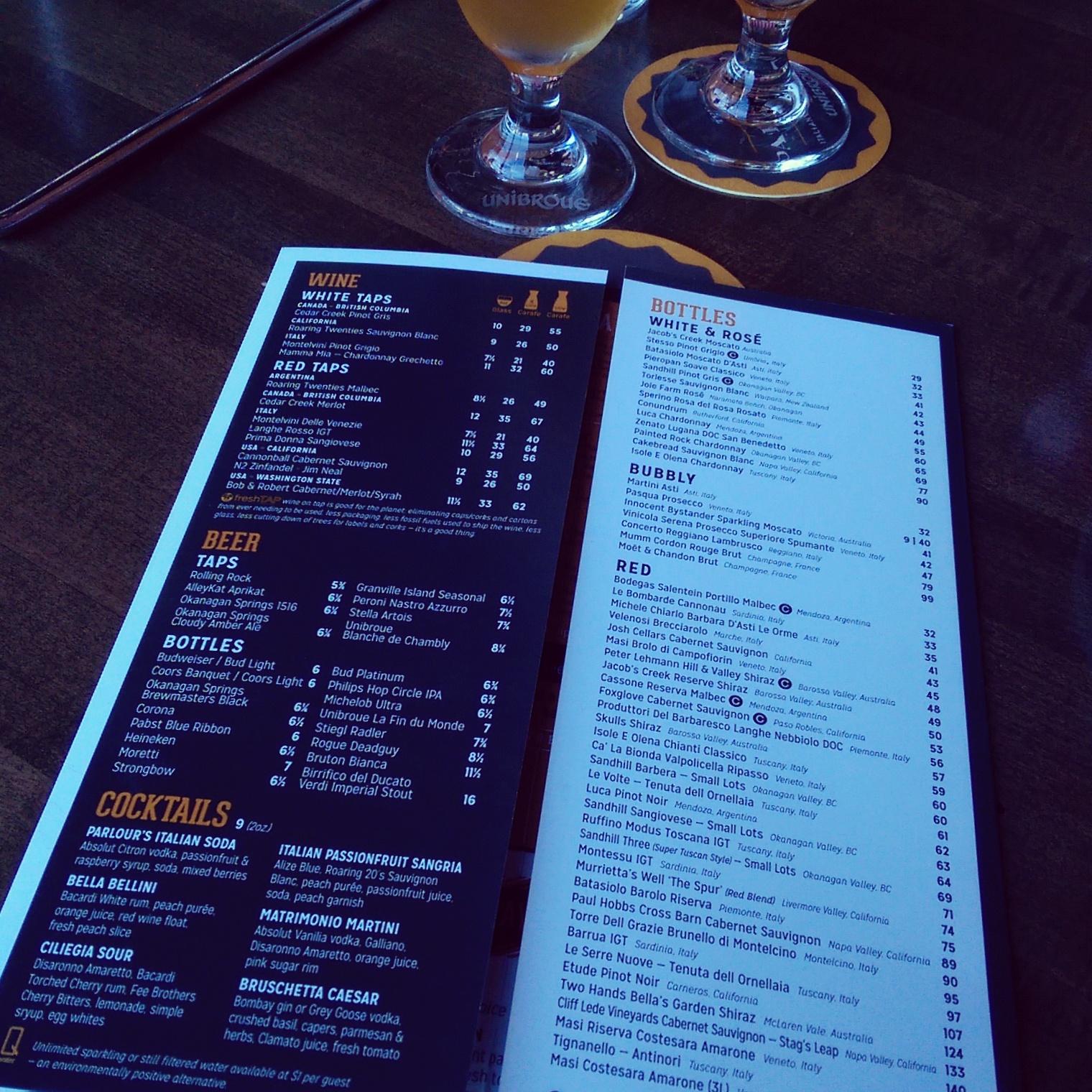 Edmonton Restaurant Review: The Parlour Italian Kitchen