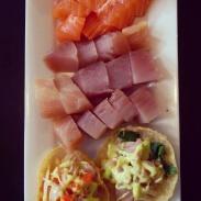 Tacos and sashimi at Watari.