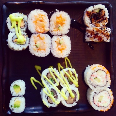 Various maki rolls at Watari.