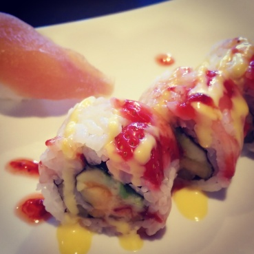 Close-up of the fruity rolls at Watari.