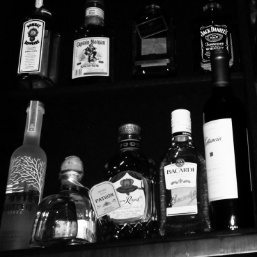 The mini bar at The Cromwell. It's very well stocked.