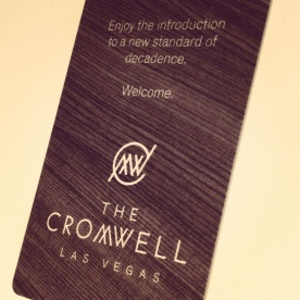 The Cromwell room key card.