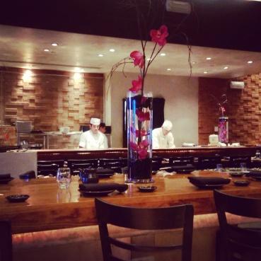 The sushi bar at Sushi Roku.