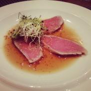 Tuna Tataki at Sushi Roku.